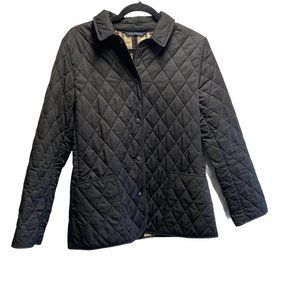 Burberry London Snap Front Black Quilted Jacket